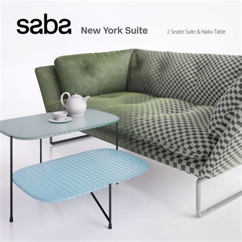 saba italia new york sofa 3d models sofa new york suite by saba italia 2 seater