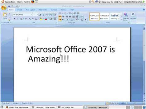 help for linux install microsoft office 2007 in ubuntu