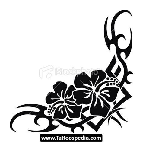 hawaiian flower tribal tattoo designs hawaiian tribal flowers