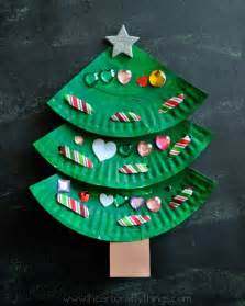 paper plate laced christmas tree craft i heart crafty things