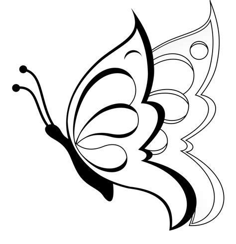 Simple Drawing Of A Butterfly Simple Drawing Butterfly Drawing Art Gallery Drawing Sketch Easy Drawing For