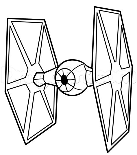 star wars tie fighter coloring page how to draw a tie fighter easy step 7 art pinterest