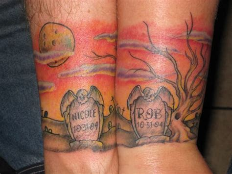 graveyard tattoo design sunset graveyard tattoos