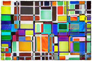 colored window stained glass window multi colored abstract photograph by