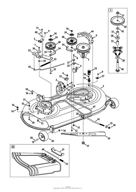 mtd mower deck diagram mtd 13a2775s000 2013 parts diagram for mower deck