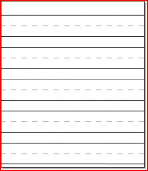 printable lined paper for pre k number names worksheets 187 writing paper for kindergarten