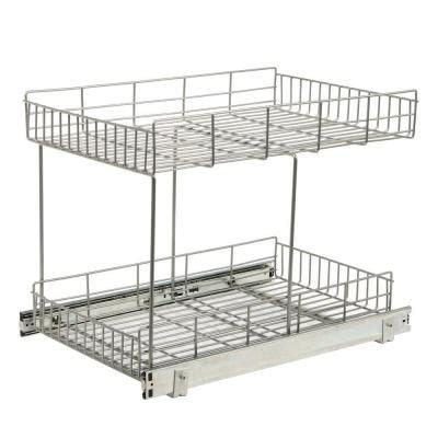 real solutions kitchen organizers 22 875 in x 15 44 in x 17 562 in half shelf pull out