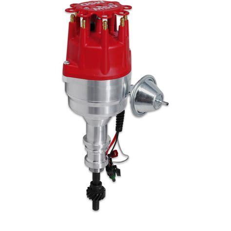 msd ignition  billet ready  run distributor ford   steel gear ebay