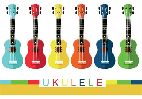 colorful ukulele vectors free vector stock