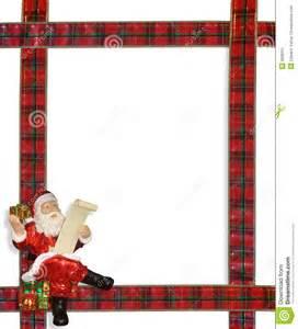 christmas santa ribbons border frame stock image image