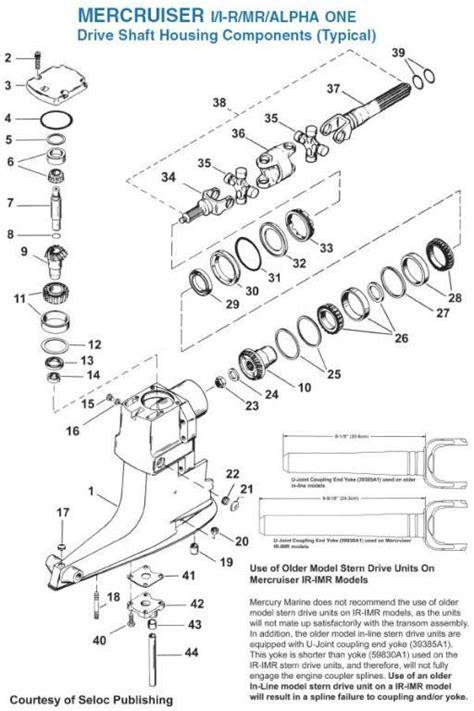 mercruiser alpha one outdrive parts diagram mercruiser alpha outdrive diagram
