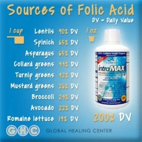 best sources of folic acid 15 foods high in folic acid