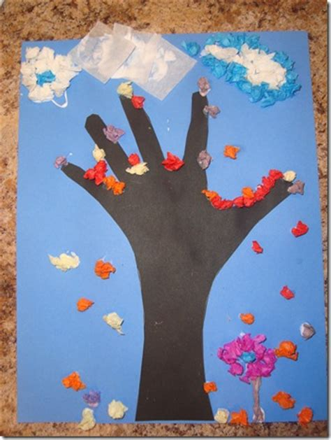 Tissue Paper Tree Craft - be brave keep going tissue paper fall tree craft