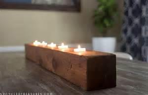 diy rustic tea light candle holder mountain modern life