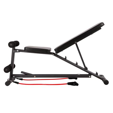 resistance band bench buy fid flat adjustable bench 150kg w resistance bands