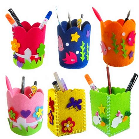 diy arts and craft diy pencil pot pen holder children kindergarten