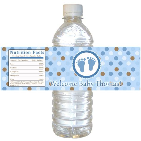 templates for water bottle labels baby shower baby shower water bottle labels template templates ideas