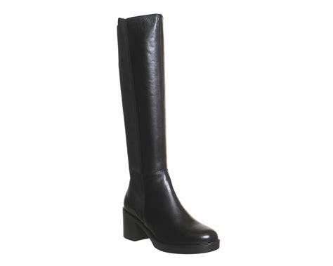 womens vagabond tilda knee boots black leather stretch