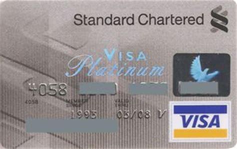 standard chartered bank hong kong cartes bancaires standard chartered visa platinum