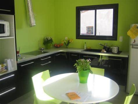 Cuisine Noir Et Vert by Cuisine Ouverte Sur Salon Et Sejour Couleur Des Murs
