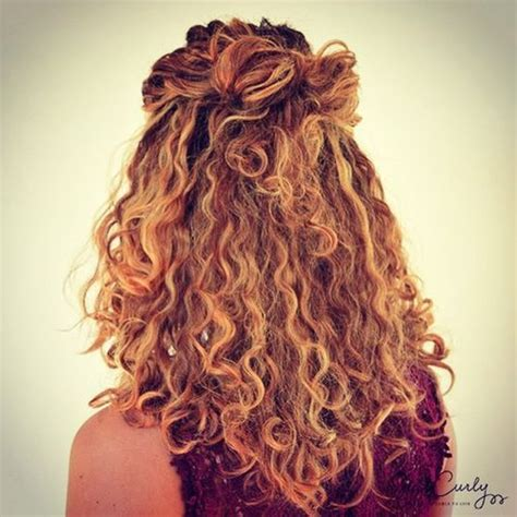 curly hairstyles put up curly half up hairstyle