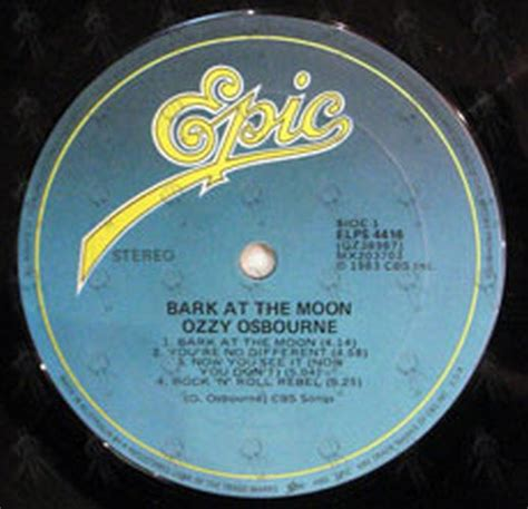 barking at the moon osbourne ozzy bark at the moon 12 inch lp vinyl records