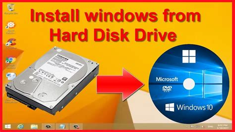 install windows 10 from hard drive install windows xp 7 8 1 10 from hard drive no dvd or