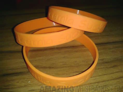 Customized Orange Leukemia Awareness Bracelets