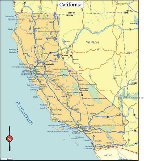 map of california state obryadii00 maps of california