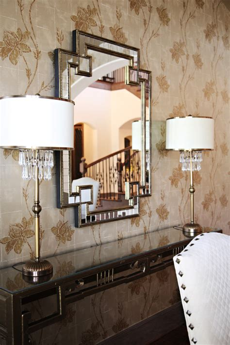 home goods mirrors dining room contemporary with brass