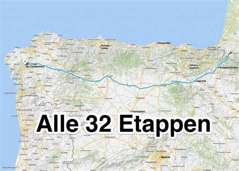 el camino frances etappen des camino franc 233 s jakobsweg