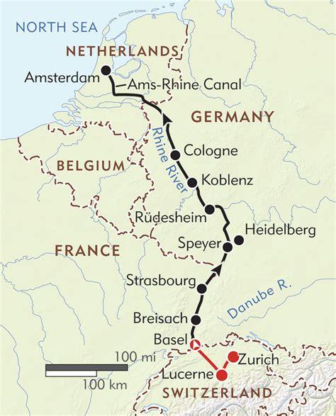 netherlands castles map enchanting rhine itinerary map wilderness travel