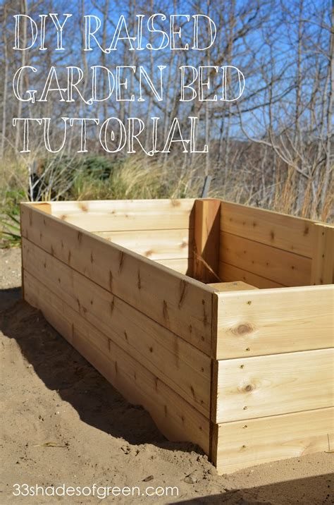raised beds diy easy diy raised garden bed tutorial 33 shades of green
