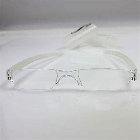 Slime M Mini Clear mini rimless clear reading glasses 1 0 to 4 0 diopter