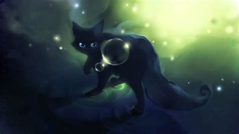 cat wallpaper deviantart animals apofiss artwork black black cat bubbles cats