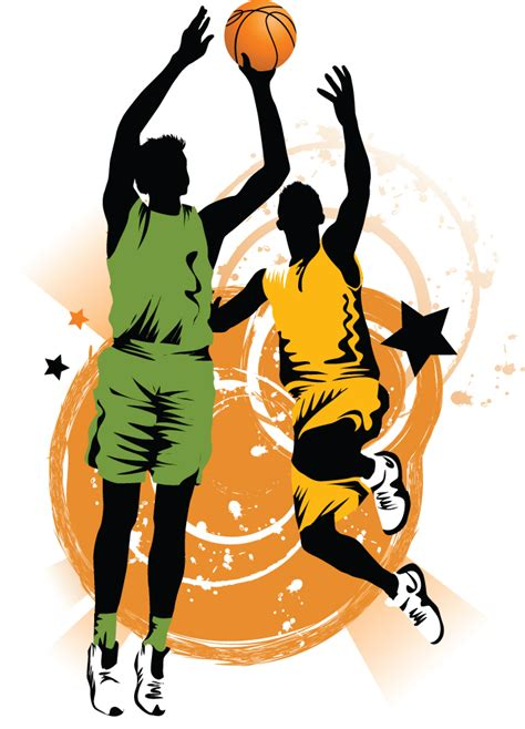 silhouette basketball clip art library
