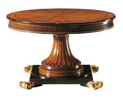 tavoli rotondi legno tavolo rotondo in noce intagliato allungabile idfdesign