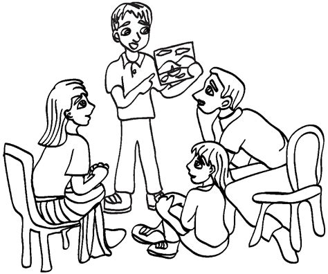 coloring pages for family home evening ldsfiles clipart family home evening
