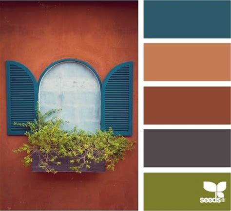 terracotta window color schemes