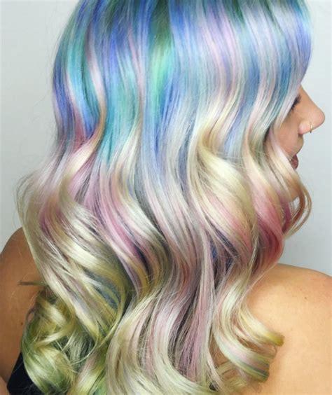 iridescent hair color 2016 hair colour forecast rainbow hair colour