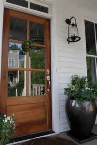 External Porch Doors 20 Beautifully Classic Farmhouse Stained Wood Doors