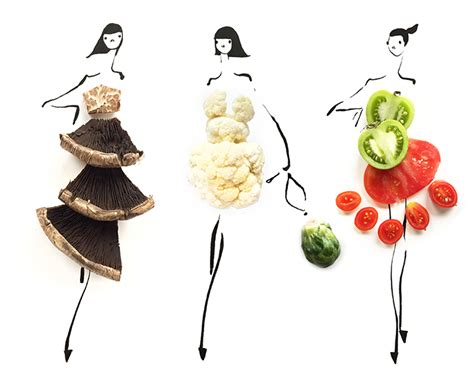 fashion illustration with food these foodie fab fashion illustrations by sweetgreen are everything