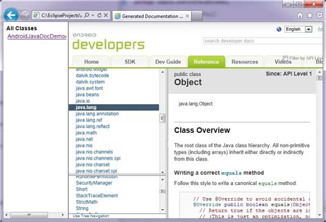 android layout javadoc android app s javadoc opens android sdk javadoc in 4