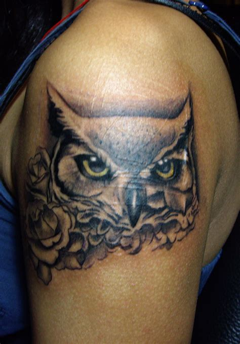 rose and owl tattoo tattoos on tattoos scorpio tattoos