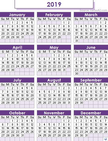 calendar printable  holidays list