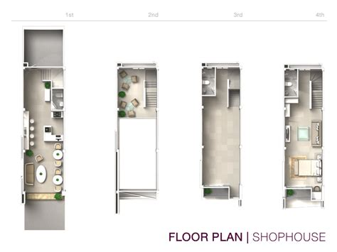 the house plan shop shophouse of 4 floors commercial building b avenue