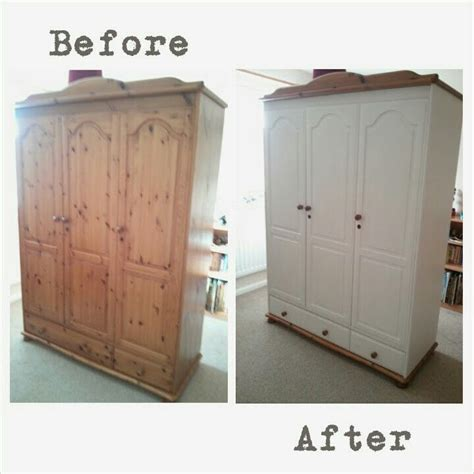 How To Paint A Wooden Wardrobe White 17 best ideas about pine wardrobe on used