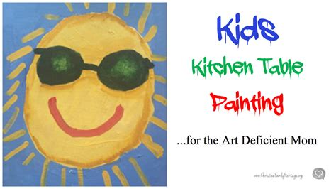 kid kitchen table kitchen table painting lesson for the deficit