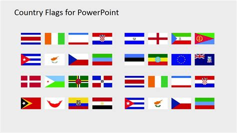 Flags Of The World Ppt | country flags clipart for powerpoint c to d slidemodel