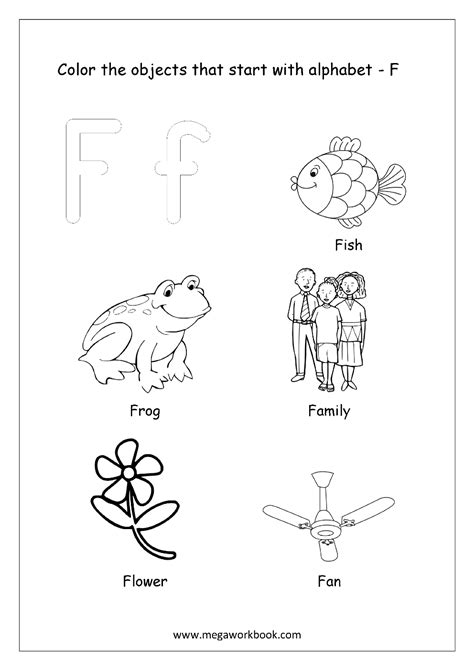 color that starts with f free worksheets alphabet picture coloring